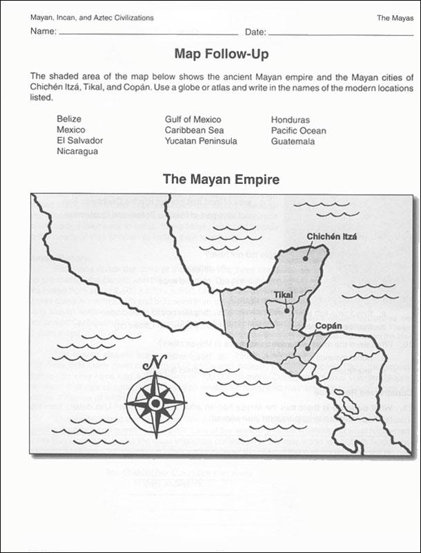 Mayan, Incan, and Aztec Civilizations Activity Book