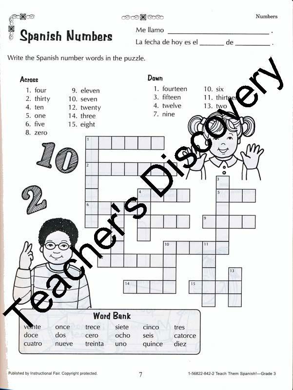 Teach Them Spanish! Grade 3 Book, Spanish: Teacher's Discovery