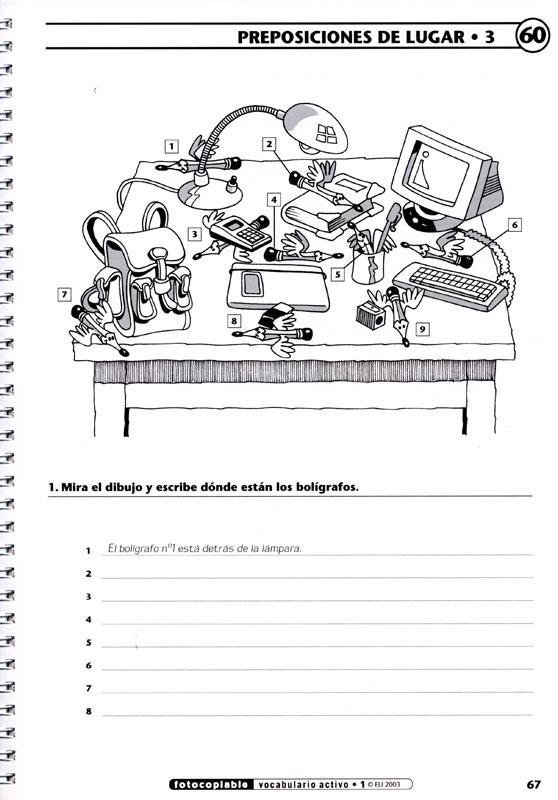 Vocabulario Activo 1 Spanish Activity Book, Spanish