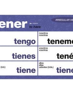 Essential irregular spanish verbs chart set teacher   discovery   also rh teachersdiscovery