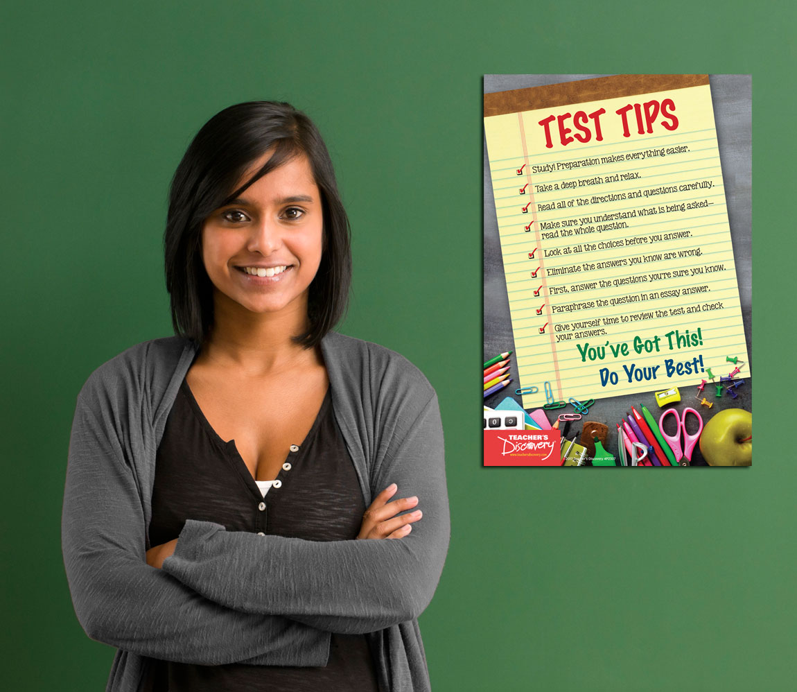 Test Tips Mini Poster English Teacher S Discovery