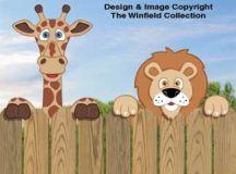All Yard & Garden Projects - Giraffe & Lion Fence Peekers ...