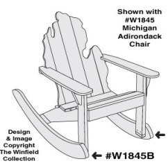 Michigan Adirondack Chair Tables And Chairs Rental Price Furniture Plans Optional Rockers Pattern