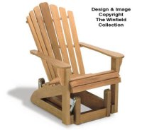 All Yard & Garden Projects - Adirondack Glider Chair Wood ...