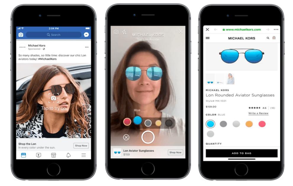 Facebook estrena anuncios con realidad aumentada