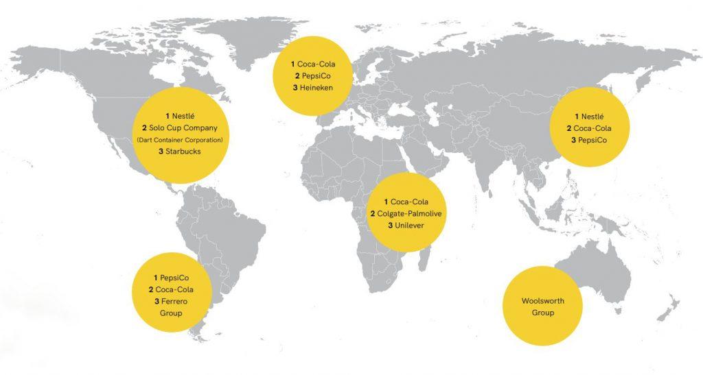 Las marcas más contaminantes del planeta, por países