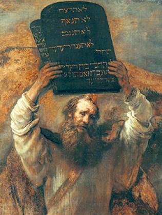Moisés con las tablas de la Ley, por Rembrandt – Gemäldegalerie, Berlín