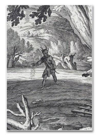 Detalle de un grabado de Jacob Matham y Abraham Bloemaert (c. 1652)