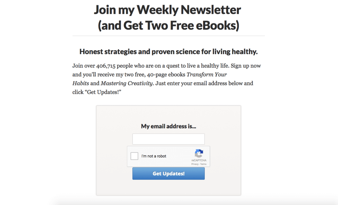 join my weekly newsletter
