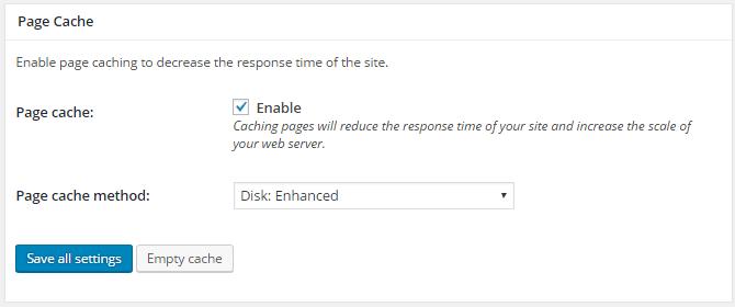 w3 page cache