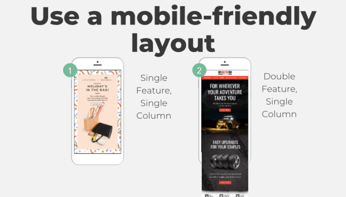 mobile friendly email layouts