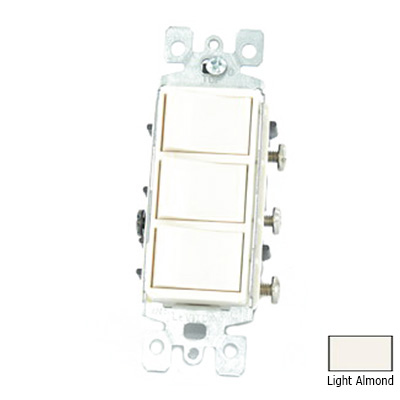 Leviton 1755-T Decora® AC Combination Switch; 120 Volt, 15