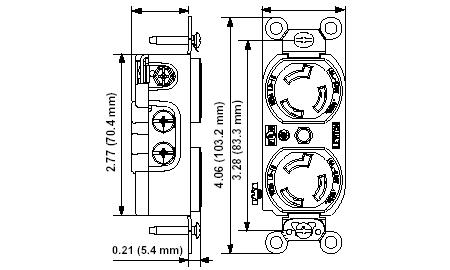 L7 15r receptacle