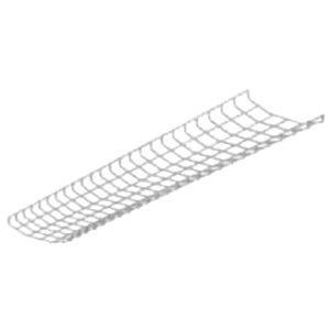 Cooper Lighting WG/SSF-4FT-B Metalux® Wire Guard; White