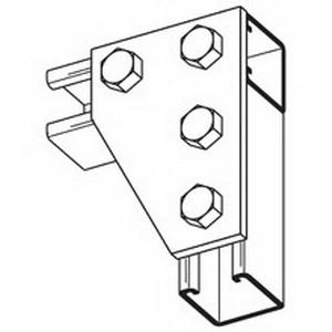 Cooper B-Line B142ZN Corner Angle Gusset Plate; Steel, (4