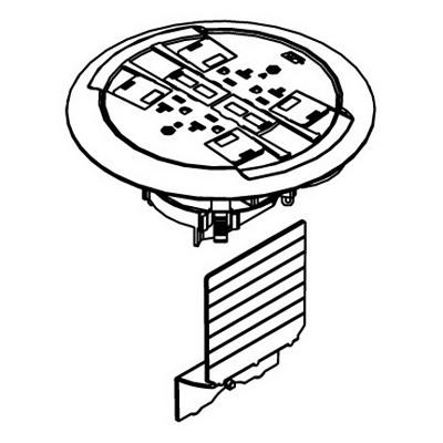 Wiremold / Walker 881RC4ATCBK Ratchet-Pro™ 881 Series