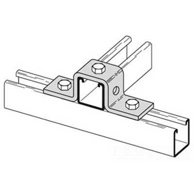Cooper B-Line B107HDG U Support; Steel, Hot-Dip Galvanized