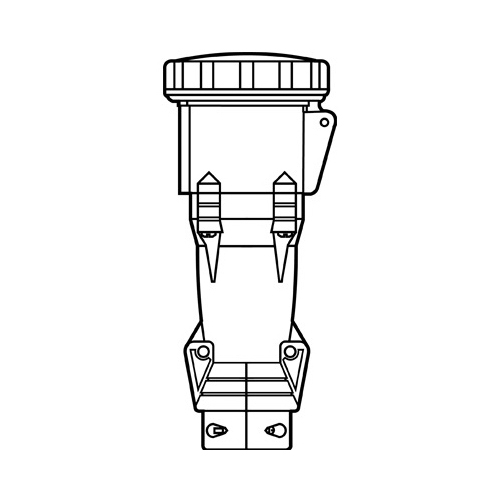 Pass & Seymour PS430C12-W Pin and Sleeve Connector; 30 Amp