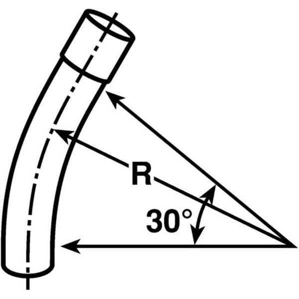Carlon UA6DLB 30 Degree Non-Metallic Elbow 3 Inch Belled