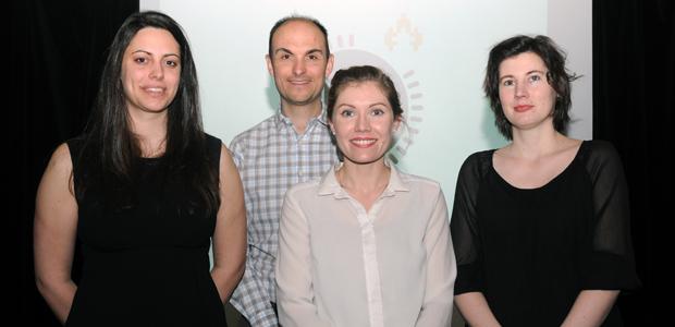 Les trois participantes de la finale MT180 à l'UQAC