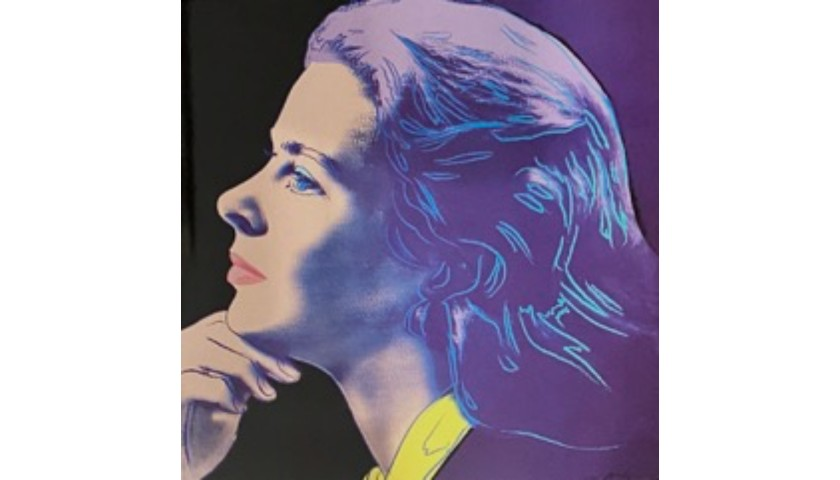 Portraits Of Ingrid Bergman By Andy Warhol Charitystars