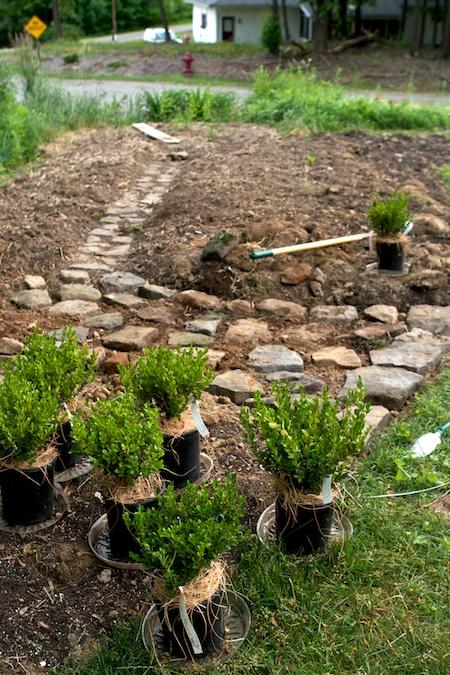 building_rock_pathways_in_the_garden 5