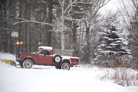 plowing the drive 2