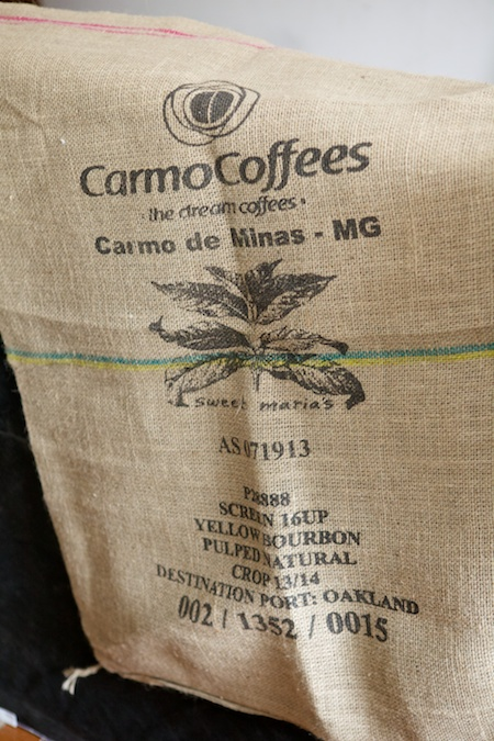 coffee bag covered box spring 2