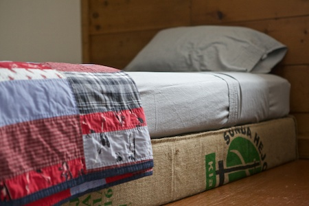 coffee bag covered box spring 4