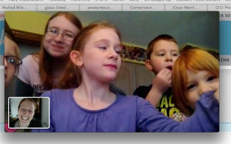 chatting with the kids
