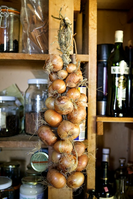onions in the pantry