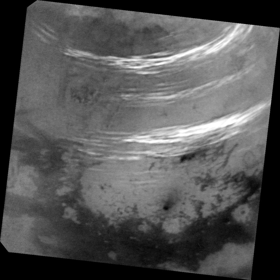Titan\'s Northern Summer Clouds (NASA Cassini Saturn Mission Image)