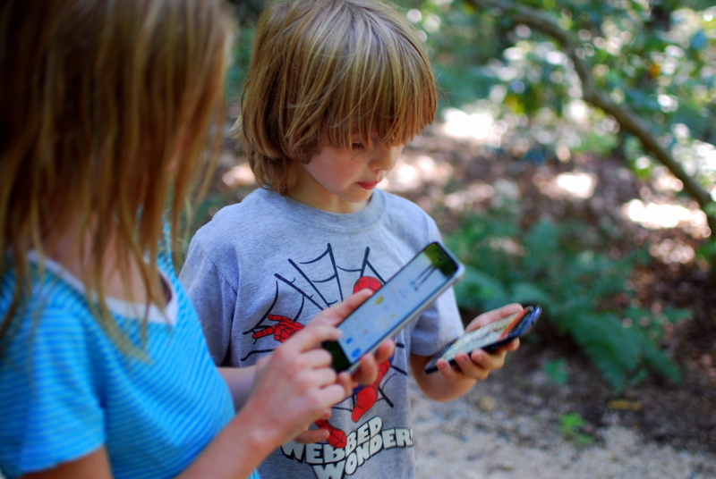 Pokemon at the Arboretum with Lillian.