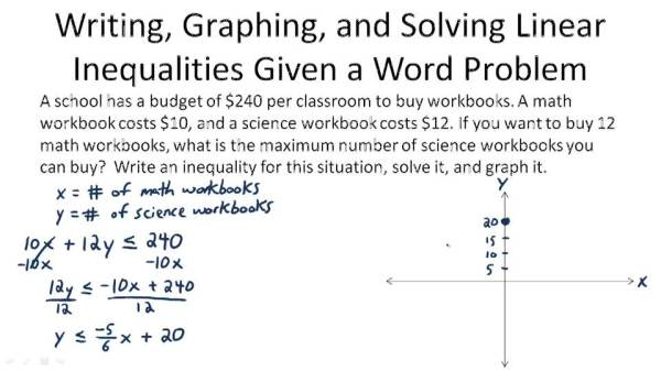 Solving word problems involving inequalities Buy essay