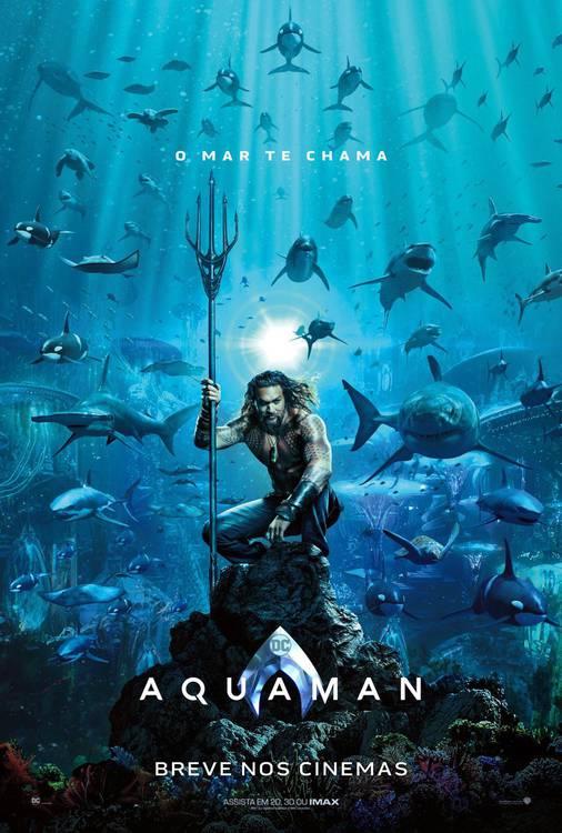 aquaman Aquaman | Divulgado primeiro pôster do filme; Confira