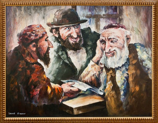 Three Jew Leonid Afremov Cls Fine Art