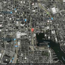 Baltimore Inner Harbor Hotel Map