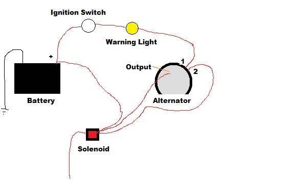 delco alternator wiring diagram with gauge
