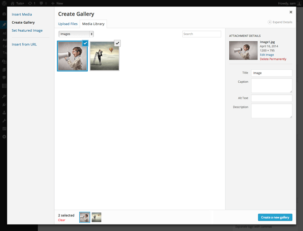 Gallery Previews in wordpress 3.9