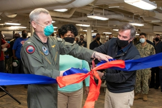 USS George Washington's Galley Opened
