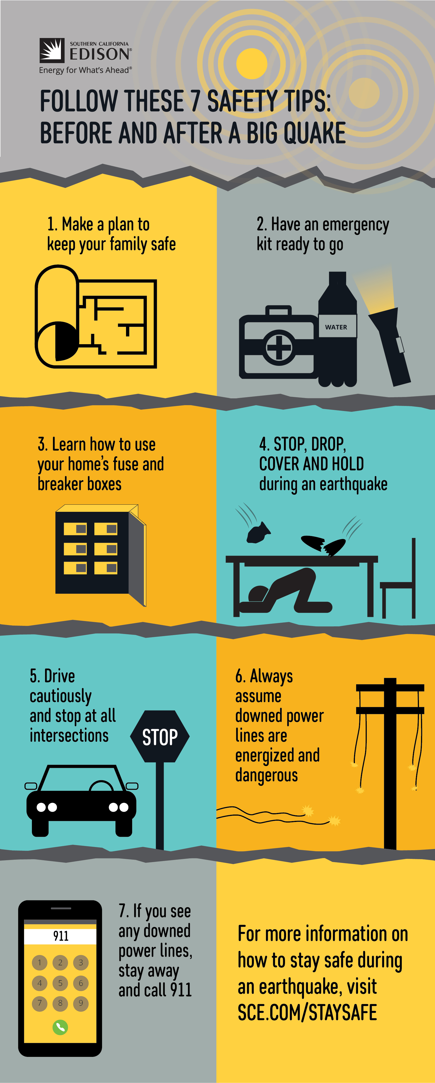 Earthquake Safety Tips Poster