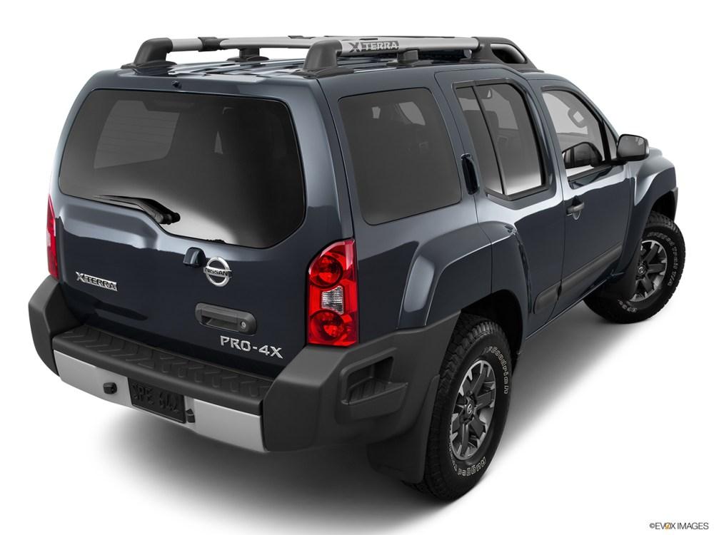 medium resolution of 2015 nissan xterra 4wd 4 door auto pro 4x rear 3 4 angle