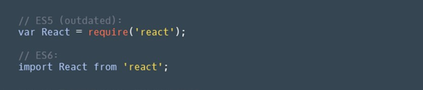 Change React require