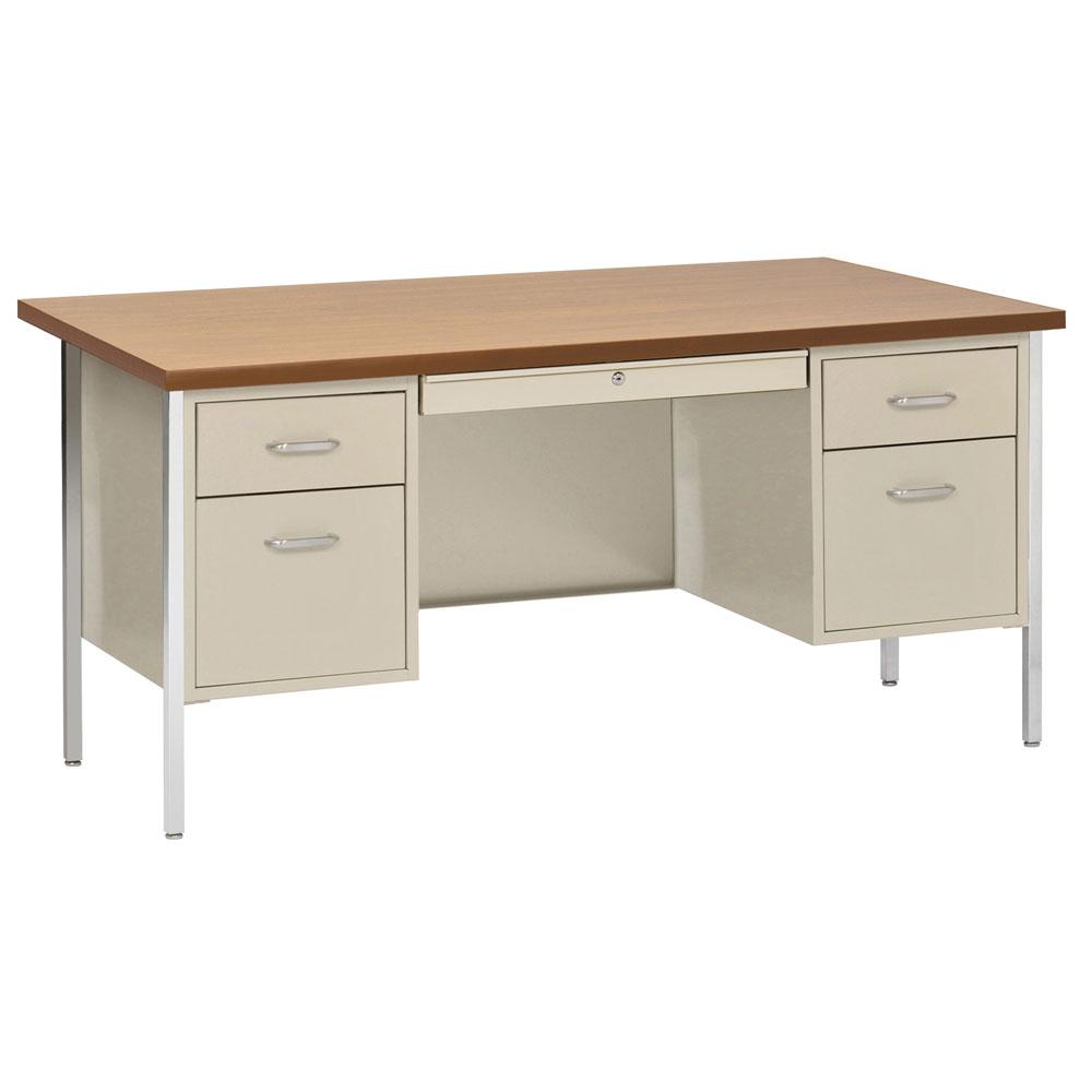 Double Hanging Pedestal Desk  OfficeSource Furniture