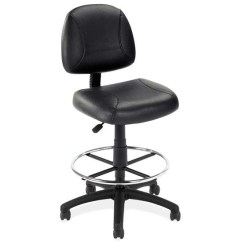 Posture Deluxe Chair Study Black Leather Armless With Frame Jmjs