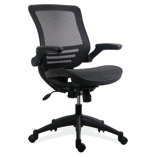 mesh task chair wine barrel table and chairs all with arms black base officesource furniture