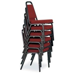 Upholstered Stacking Chairs Chair Covers Hire Cape Town Stack With 2 Crown Seat And Metal Frame Jmjs