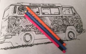 Campervan Colouring Book