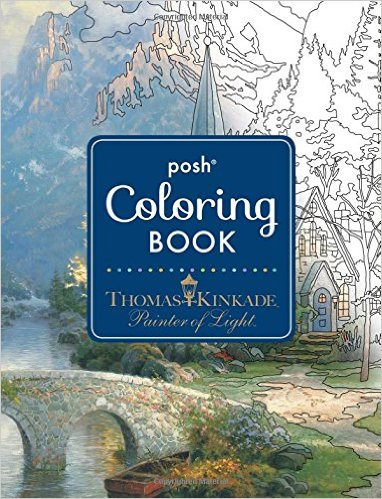 Thomas Kinkade Painter of Light ColoringBook - Thomas Kinkade Painter of Light - Coloring Book Review