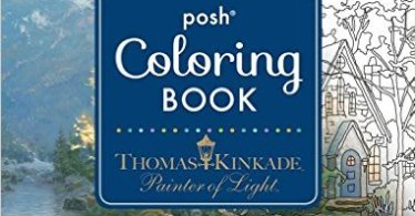 Thomas Kinkade Painter of Light ColoringBook - Escape to Shakespeare's World  - Coloring Book Review